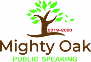 The Mighty Oak Public Speaking Logo